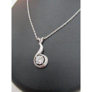 Jewelry - 2 carat Women necklace pendant brilliant diamond
